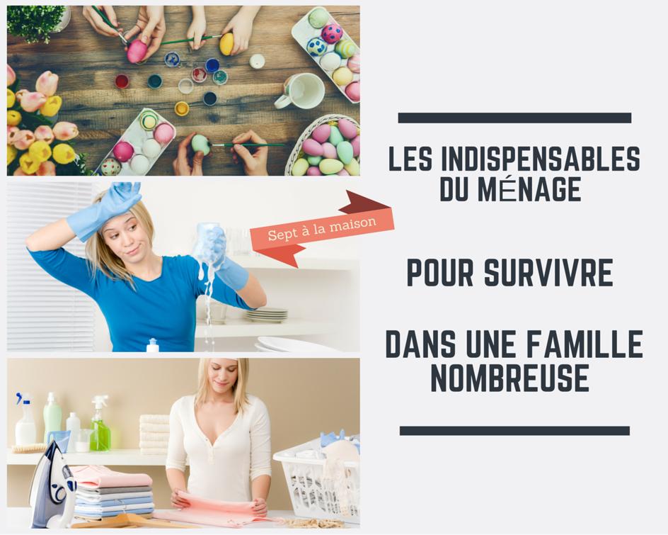 Les 5 indispensables du m nage pour une famille nombreuse for Les problemes de la famille nombreuse