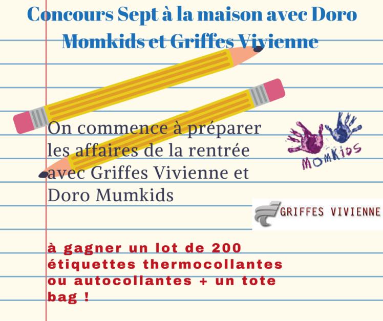 On commence à préparer les affaires de la rentrée avec Griffes Vivienne et Doro Mumkids